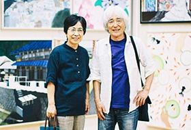 第66回学展最優秀指導者賞を受賞した、絵画教室「アトリエ一番坂」の舘岡ご夫妻
